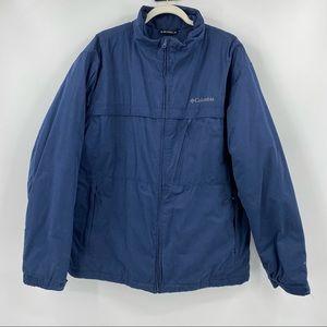 Columbia Men's Navy Waterproof Omni-Shield  Jacket
